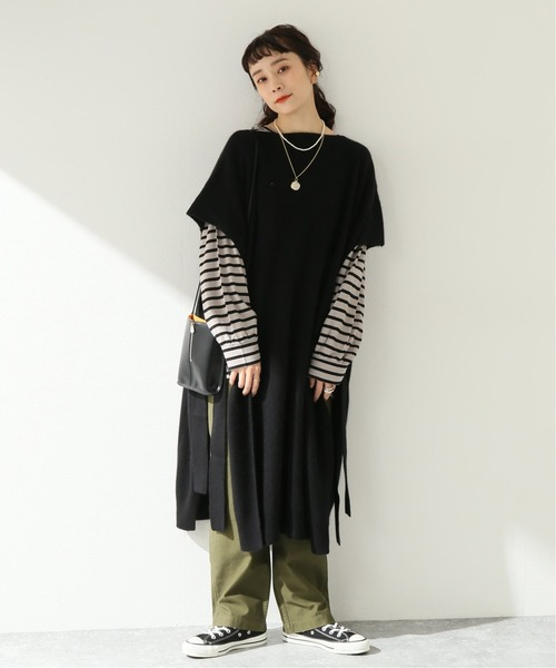 [JOURNAL STANDARD] 【MAISON CHANTOISE/メゾン・シャントワーズ】ニットロングポンチョ