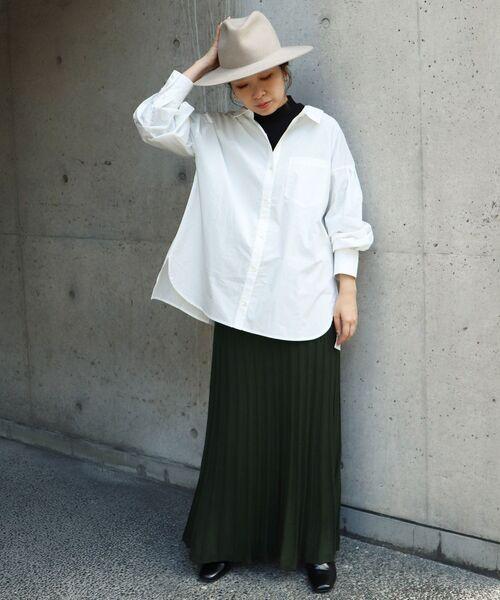 [le.coeur blanc] プリーツライク編みブライトニットマーメイドスカート