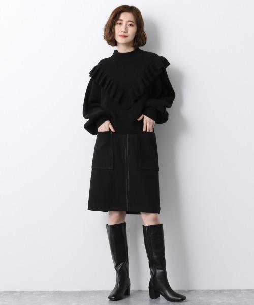ウールライクタイトスカート 920206