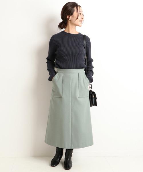[IENA] 《WEB限定》ウォッシャブルフラノAラインスカート【手洗い可能】◆