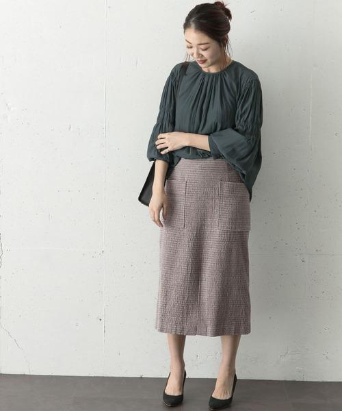 [URBAN RESEARCH ROSSO WOMEN] モールツイードタイトスカート