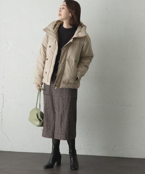 [URBAN RESEARCH ROSSO WOMEN] グリーンダウンショートジャケット