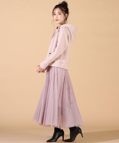 [QUEENS COURT] 【WEB別注】チュールスカート