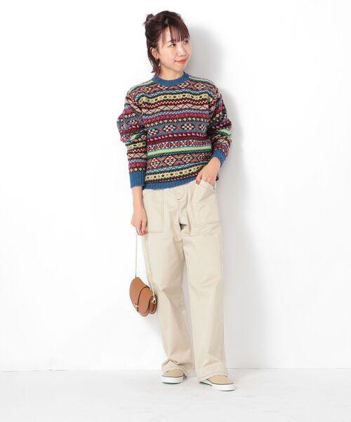 [SHIPS for women] Jamieson's Knitwear : フェアアイルプルオーバー