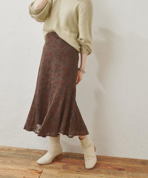 お花ベロアレースマーメイドスカート Sサイズ
