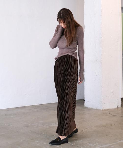 [AKTE] ベロアプリーツスカート