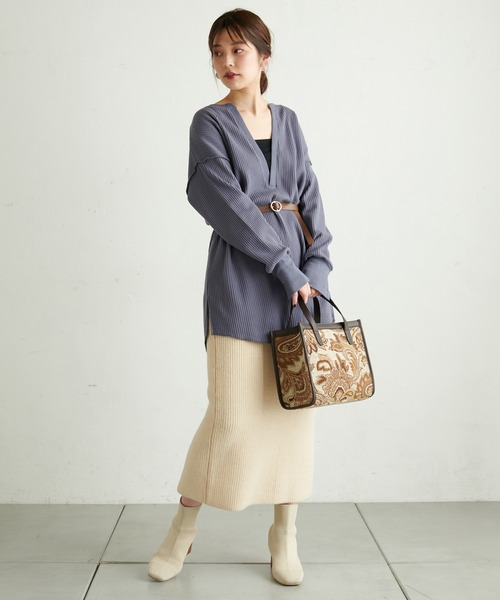 【WEB限定カラー有り】ふわふわニットスカート
