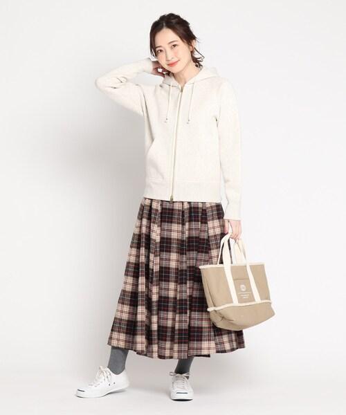 [WORLD ONLINE STORE SELECT] ウール調ガーゼフレアスカート