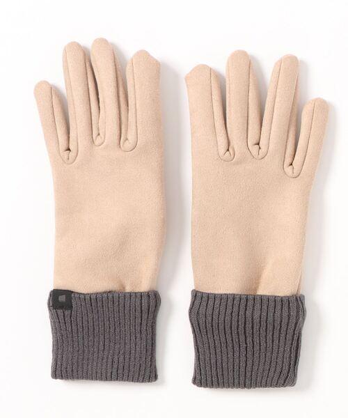 [COLONY 2139] 【WOMEN'S】スマホ対応リブ付きスエード風手袋