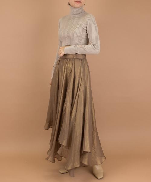[RANDA] 【選べる丈感】ラメシースルースカート