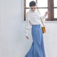 マーメイドスカートの冬コーデ【2021】トレンドの合わせ方をご紹介!