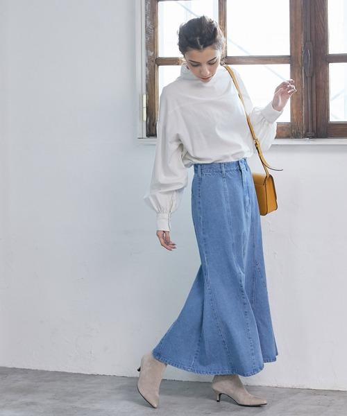 デニムマーメイドスカート<WEB限定>
