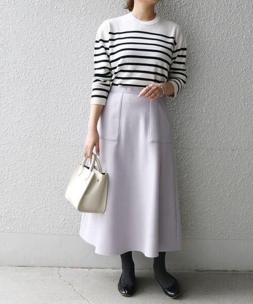 [SHIPS for women] SHIPS any: ジャージメルトン サーキュラー スカート