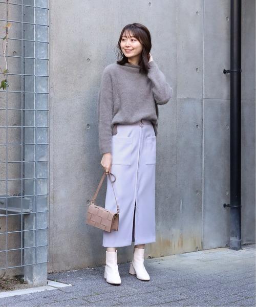 Spick & Span] T/Wフープジップ ロングタイトスカート◆