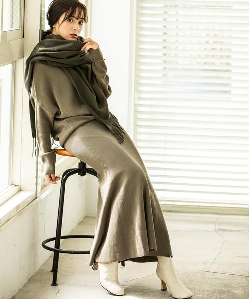 [Spick & Span] 《WEB限定》【Asami Nakamura×NOBLE】コットンシルクマーメイドスカート◆