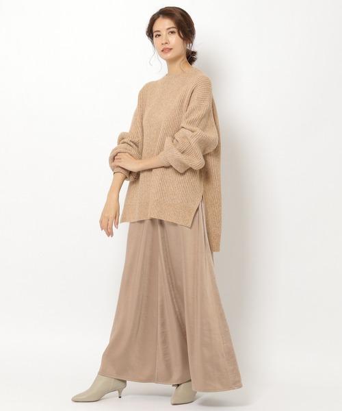 [BABYLONE] ニットサテンスカートセットアップ2