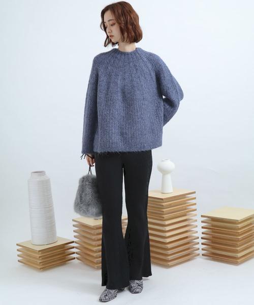 【WEB/一部店舗限定】モヘアライクセーター