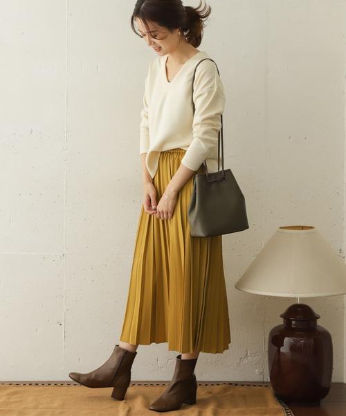 URBAN RESEARCH DOORS] ランダムプリーツスカート