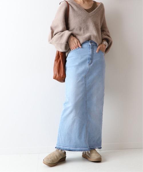[Spick & Span] ストレッチデニム切り替えタイトスカート◆