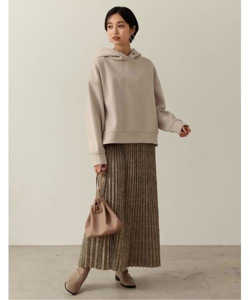 Re:EDIT] [低身長低身長向けSサイズ対応]ダマスク柄プリーツマキシスカート