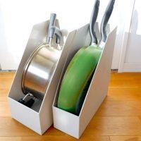 キッチン小物を収納するなら、無印良品のファイルボックスが便利です