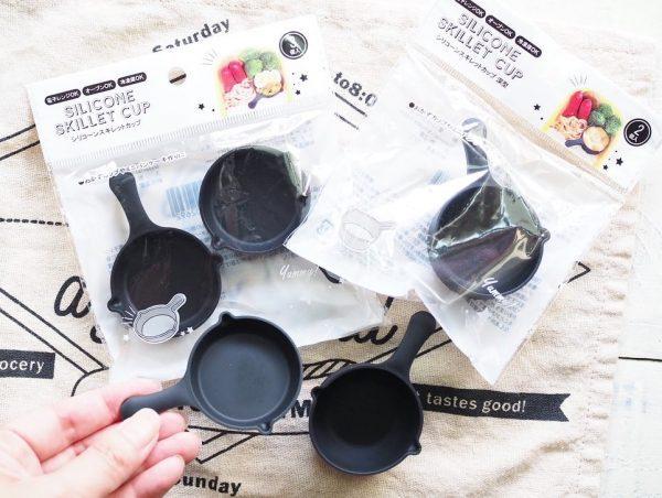 ・「シリコーンスキレットカップ 深型/浅型」 各100円(税抜)