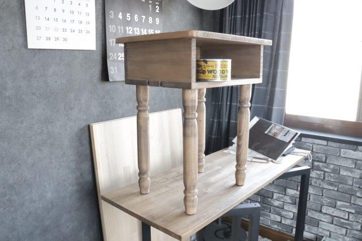 サイドテーブル DIY10