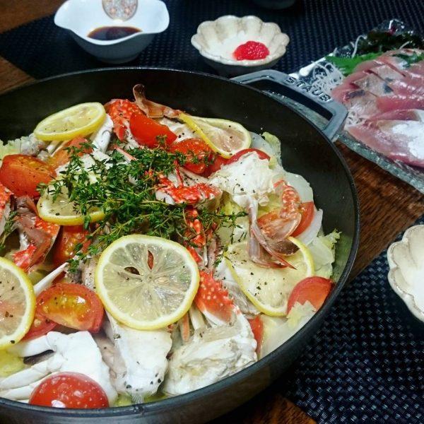 ストウブのおすすめ魚料理のアクアパッツァ