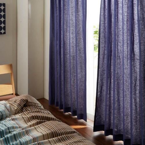 寝室カーテンにもってこいの藍色