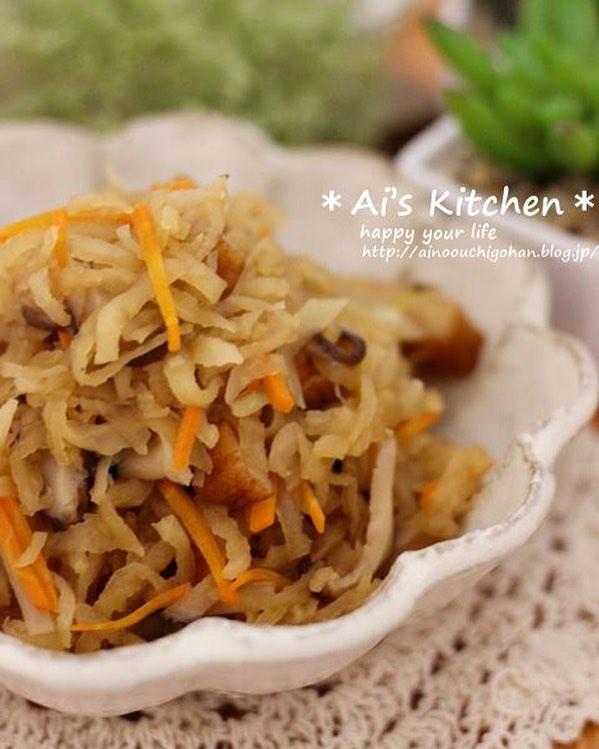 和食の定番人気レシピの切り干し大根の煮物