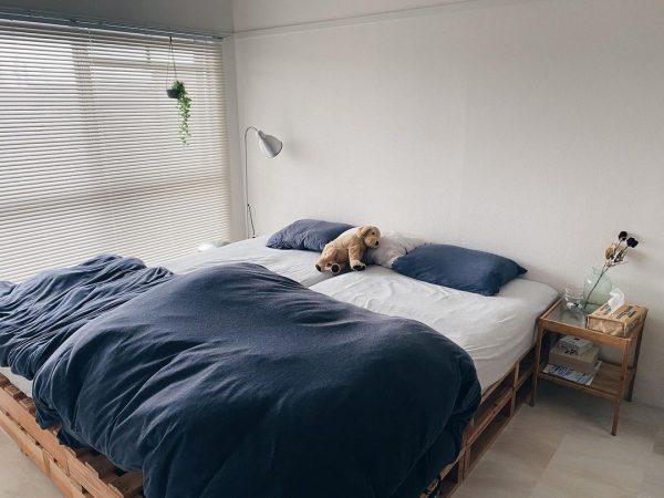 8畳寝室快眠ベッドレイアウト13