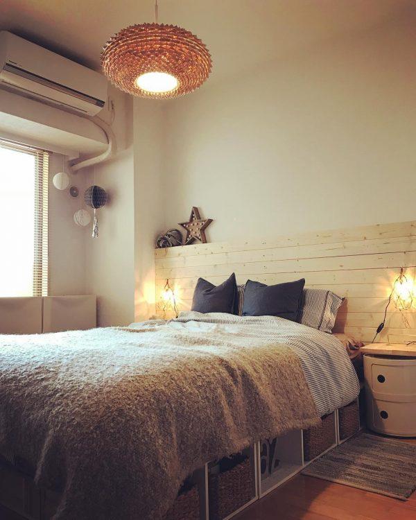 寝室 おしゃれ DIYアイデア8