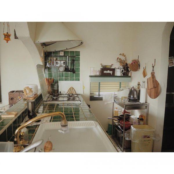 海外風のキッチンインテリア実例