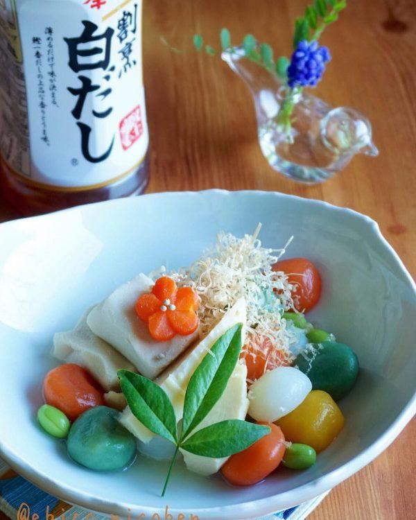 味付け簡単煮物メニュー☆高野豆腐の白だし煮