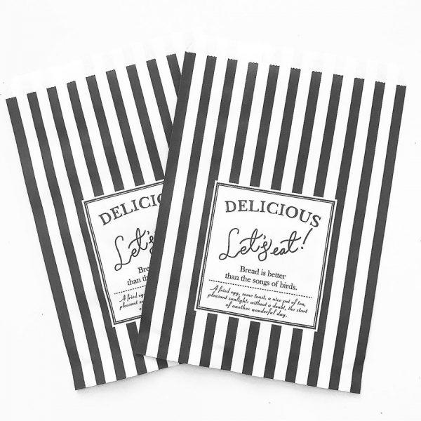 セリアのおしゃれな食品用紙袋⑥ストライプ柄