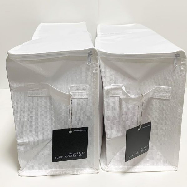キャンドゥのシンプルな布製収納ボックス