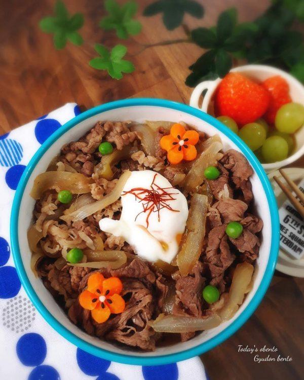 簡単のっけ弁当の人気レシピの牛丼