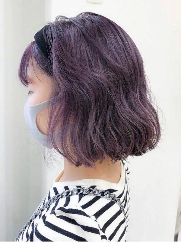 個性派な紫系オルチャンヘアカラー