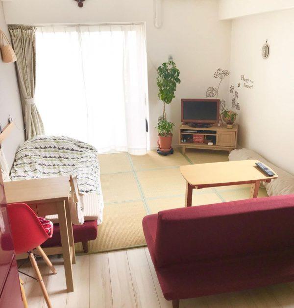 家具の配置にこだわった和室の一人暮らし