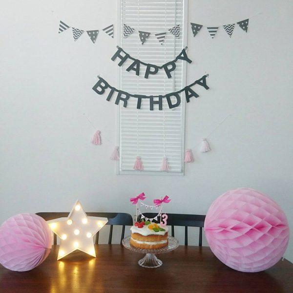 ダイソー 誕生日 飾り付け ガーランド2