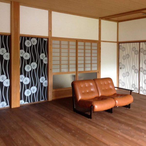 壁紙の使い方にこだわった和室の一人暮らし