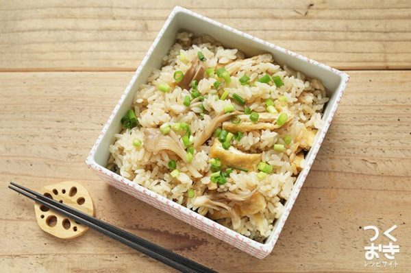 お弁当に!キノコと生姜の簡単炊き込みご飯