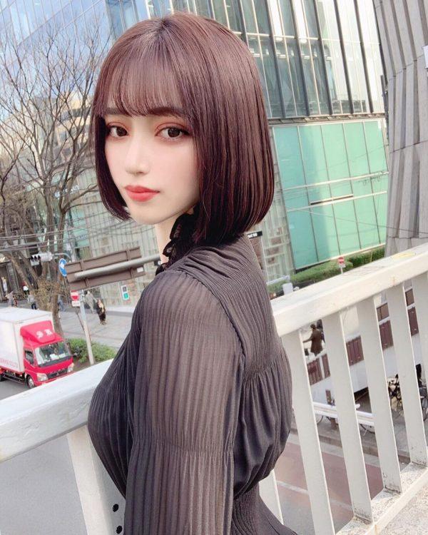 洗練された印象に♪韓国ボブのヘアスタイル