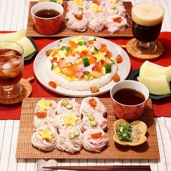 誕生日ケーキに見える主食レシピ!寿司ケーキ