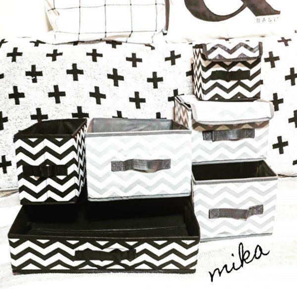 セリアの種類豊富な布製収納ボックス