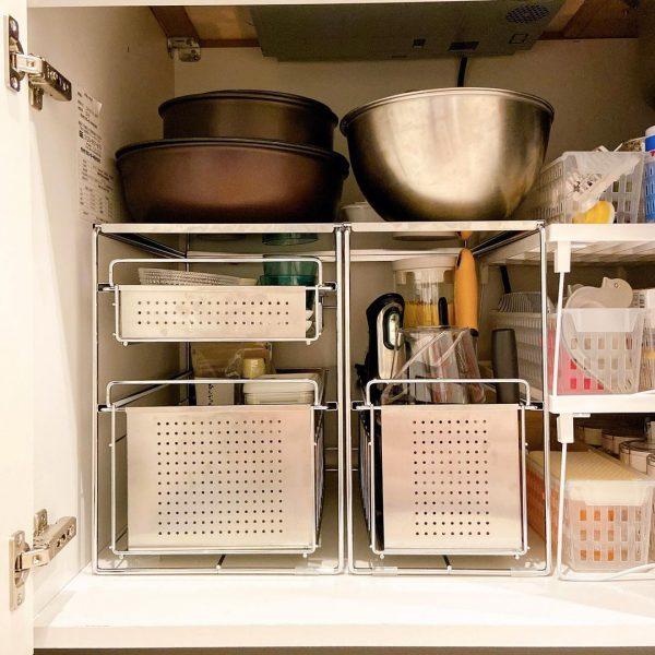 シンク下の収納をうまく使ったキッチン