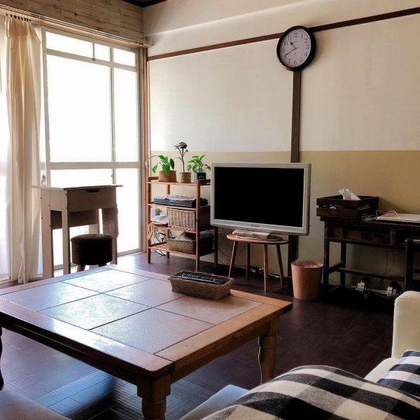 レトロな家具が可愛い和室の一人暮らし