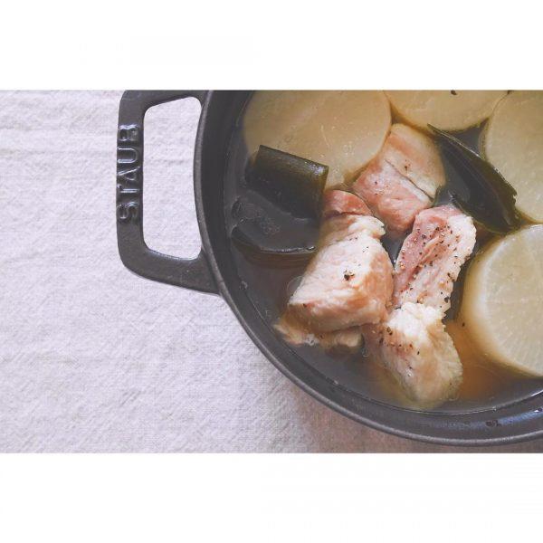 豚肉料理の献立に!塩豚と大根の煮物