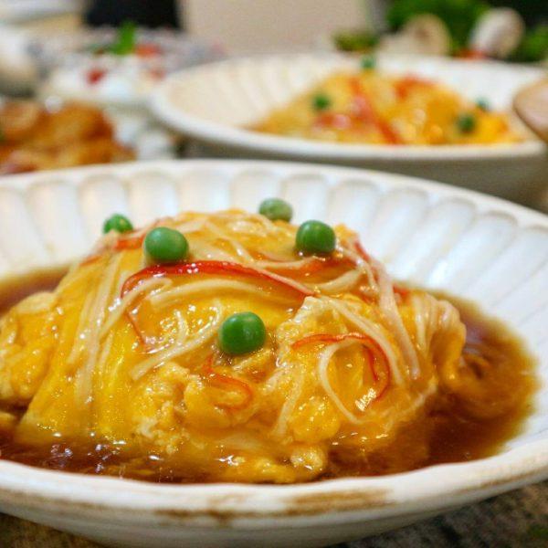 肉団子のスープに合う主食♪天津飯