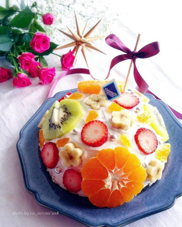 フルーツたっぷりドームケーキ